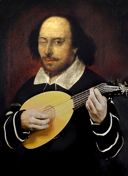 Shakespeare on the Lute winking